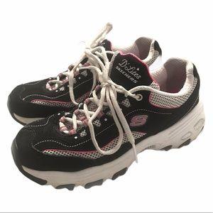 Skechers D'Lites Pink/Black Sneakers